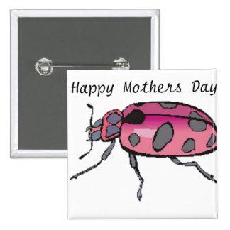 Botón feliz de encargo del día de la madre de Urba Pins