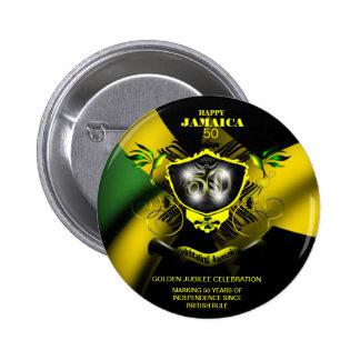Botón feliz de Jamaica 50 Pin