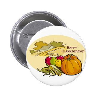 Botón feliz de la acción de gracias pins