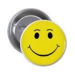 Botón feliz de la cara pins