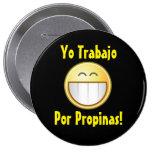 Botón feliz de la extremidad (español) pin redondo de 4 pulgadas
