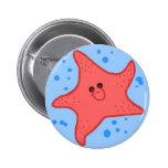 Botón feliz de las estrellas de mar pins