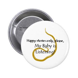 Botón feliz de las historias pin