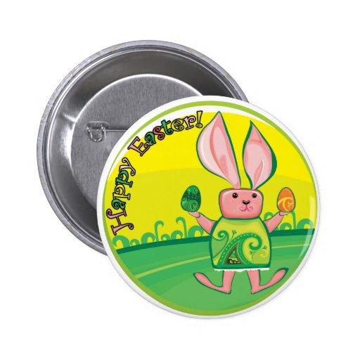 Botón feliz de Pascua - del conejito de pascua Pin