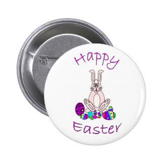 Botón feliz de Pascua Pin Redondo De 2 Pulgadas