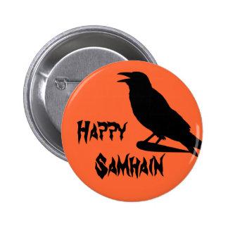 Botón feliz de Samhain Pin Redondo De 2 Pulgadas