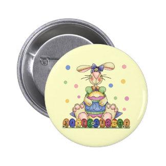 Botón feliz del conejito de pascua pin