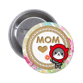 Botón feliz del día de madre - gatito pins