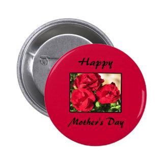 Botón feliz del día de madre