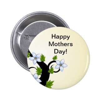 Botón feliz del día de madres
