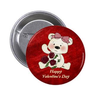 Botón feliz del el día de San Valentín Pin Redondo De 2 Pulgadas