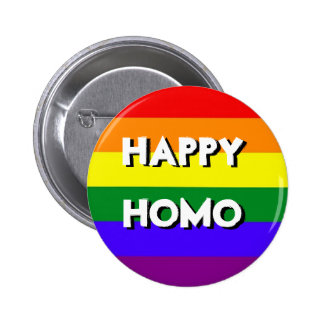 Botón feliz del homo pin redondo de 2 pulgadas