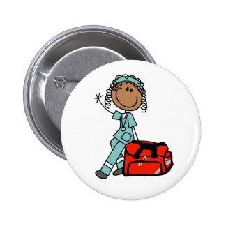 Botón femenino del terapeuta respiratorio pin redondo de 2 pulgadas