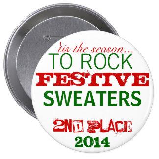 Botón feo del premio del suéter