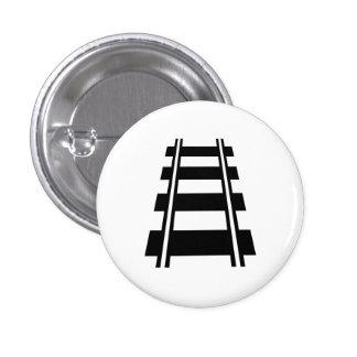 Botón ferroviario del pictograma pins