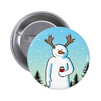 Botón festivo del alcohol pin