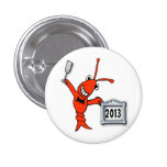 Botón festivo del Año Nuevo de la langosta 2013 de Pins