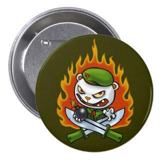 Botón Flippy del tatuaje de la llama Pin Redondo De 3 Pulgadas
