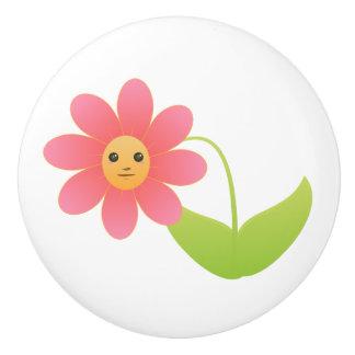 Botón/flor de cerámica pomo de cerámica