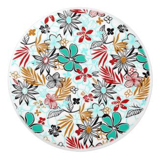 Botón/floral de cerámica pomo de cerámica
