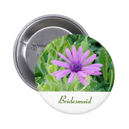 Botón floral del boda de la dama de honor del Gerb