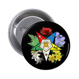 Botón floral del emblema de OES Pin