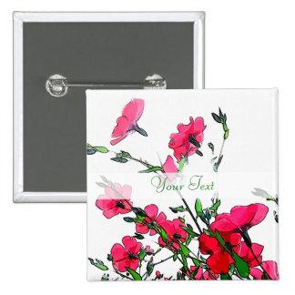 Botón floral rosado rojo bonito pins
