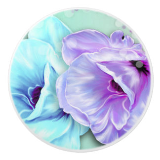 Botón/flores de cerámica pomo de cerámica