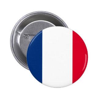 Botón francés de la bandera pin redondo de 2 pulgadas