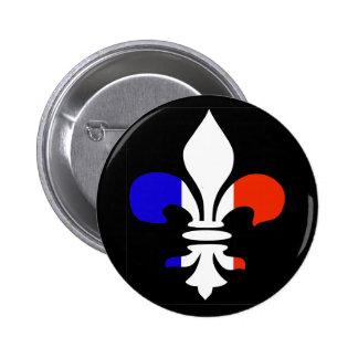 Botón francés de la flor de lis pin redondo de 2 pulgadas