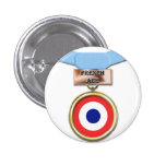 Botón francés de la medalla del as pin