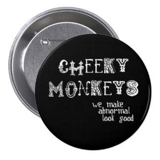 Botón fresco de los monos pin