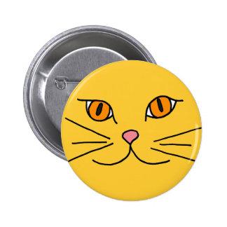 Botón fresco del gato del CS Pin Redondo De 2 Pulgadas