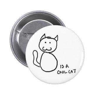 Botón fresco del gato pin redondo de 2 pulgadas