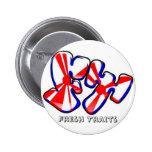Botón fresco del logotipo de los rasgos pin