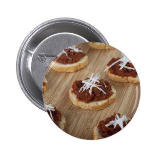 Botón fresco del Tapenade del tomate Pin Redondo De 2 Pulgadas