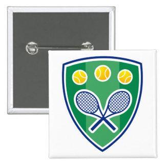 Botón fresco del tenis