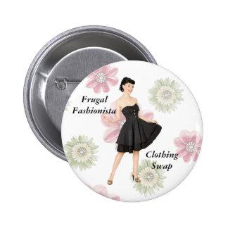 Botón frugal del intercambio de la ropa del pin redondo de 2 pulgadas