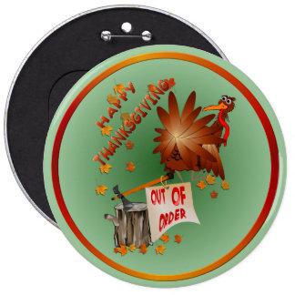 Botón fuera de servicio feliz de la acción de grac pin