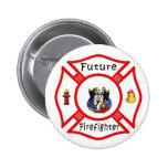Botón futuro del bebé del bombero pins