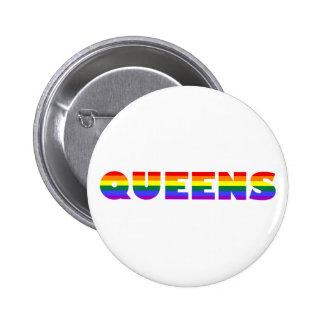 Botón gay del Queens Pin Redondo De 2 Pulgadas
