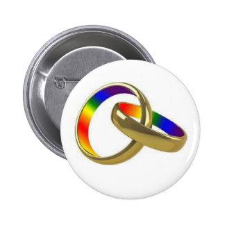 botón gaylesbian de la igualdad de la boda del arc