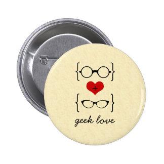 Botón Geeky de los vidrios Pin