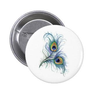 Botón gemelo del dibujo de lápiz de la pluma del p pin redondo de 2 pulgadas
