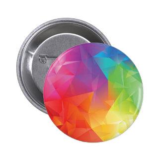 Botón geométrico abstracto del arco iris pin redondo de 2 pulgadas