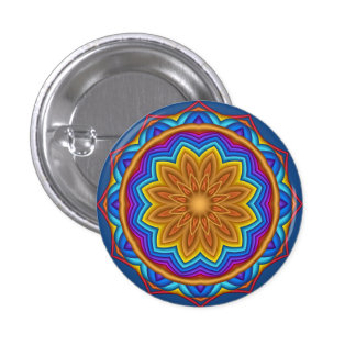 Botón geométrico decorativo del medallón de la pin redondo de 1 pulgada