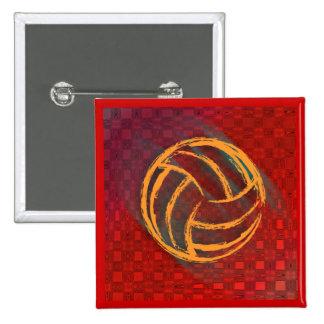 Botón geométrico del voleibol pin cuadrado