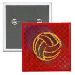 Botón geométrico del voleibol pins