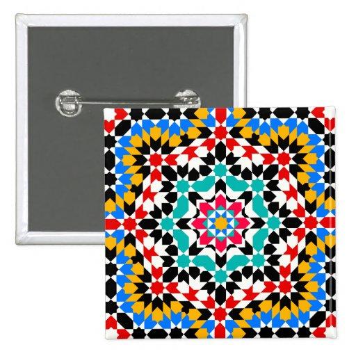 Botón geométrico islámico del modelo pin