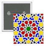 Botón geométrico islámico del modelo pins